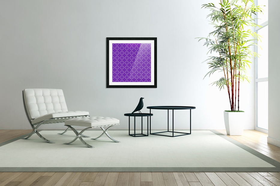 Purple Squares And Diamonds Pattern in Custom Picture Frame