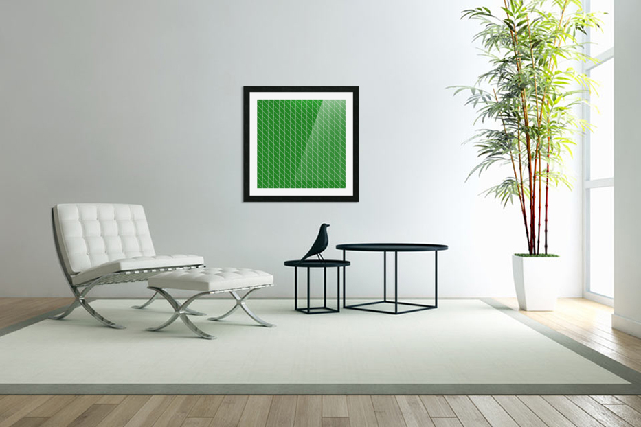 Green Checkers Pattern in Custom Picture Frame