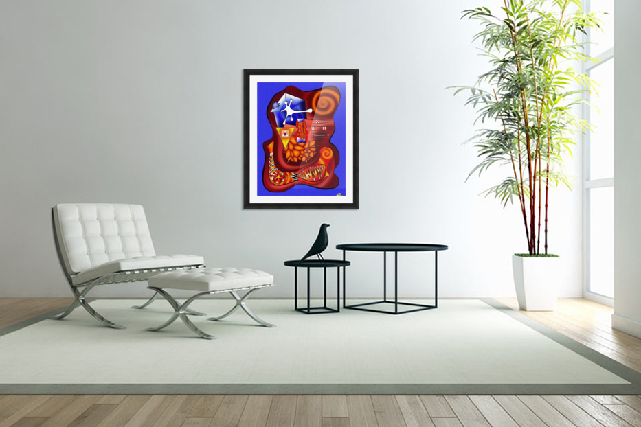 Versophomus V3 - abstract digital artwork, printable design, abstract map in Custom Picture Frame