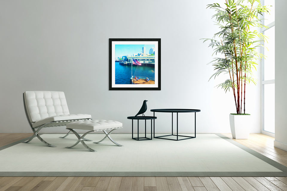 Seattle Morning in Custom Picture Frame