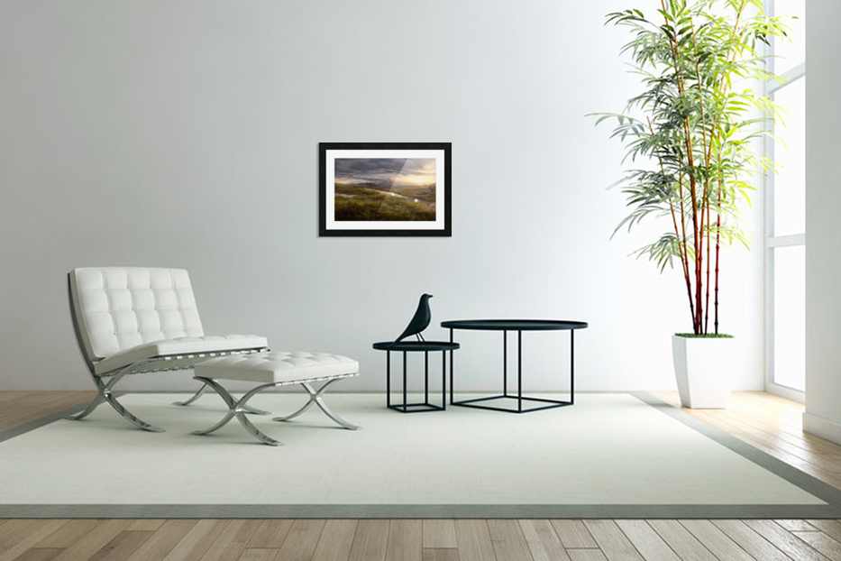 Landscape with river 1 in Custom Picture Frame