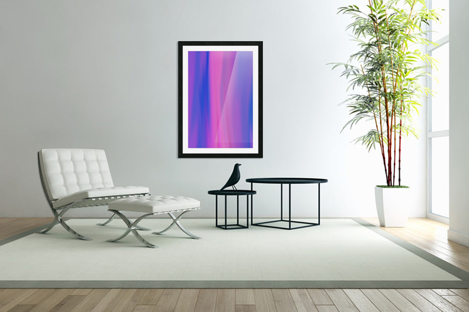 Purple Patterns in Custom Picture Frame