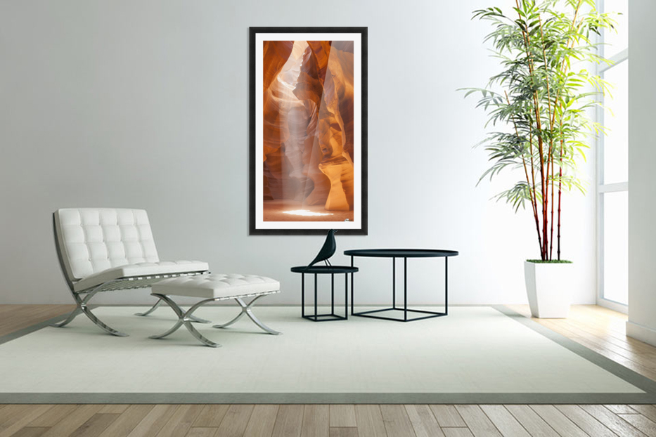 Beautiful Antelope Canyon Panoramic View in Custom Picture Frame