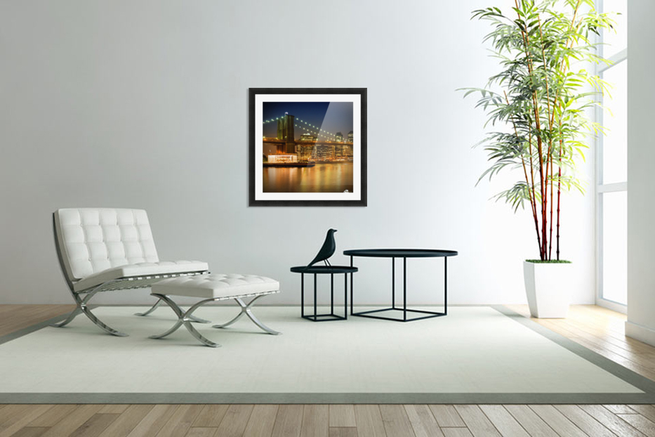 Night-Skylines NEW YORK CITY in Custom Picture Frame