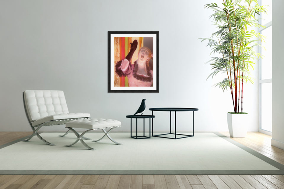 The singer with the glove by Degas in Custom Picture Frame