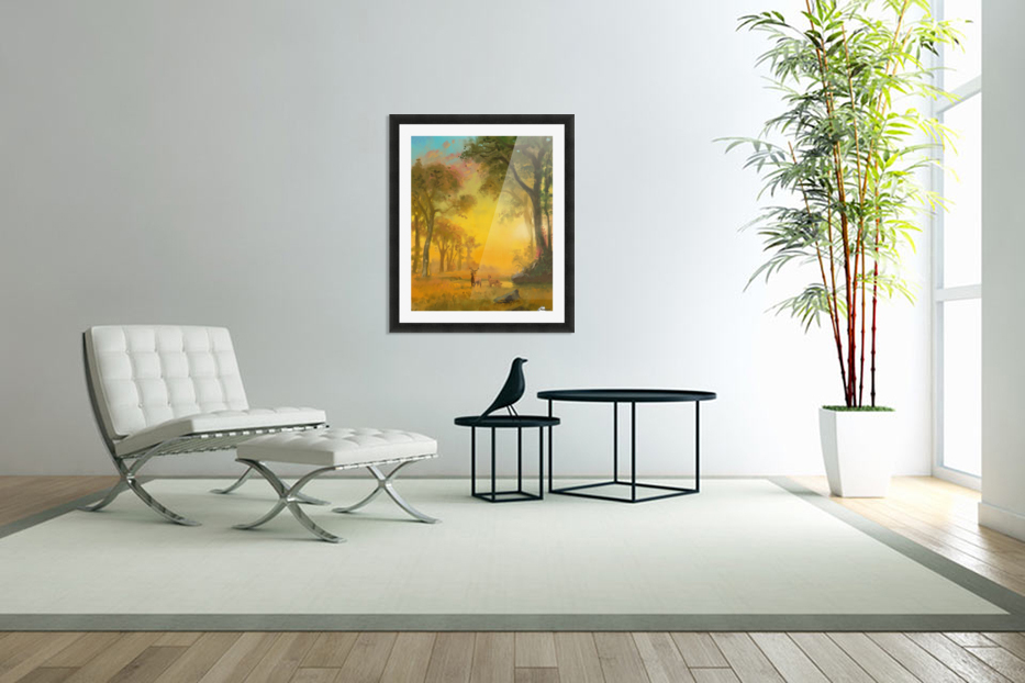 Light In The Forest in Custom Picture Frame