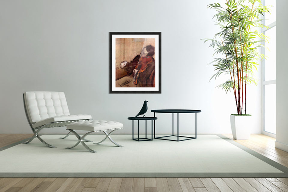 The violinist 1 by Degas in Custom Picture Frame