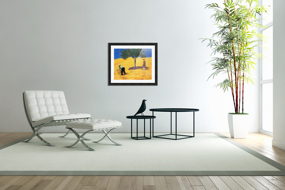 Tree in Cornfeld by Macke in Custom Picture Frame