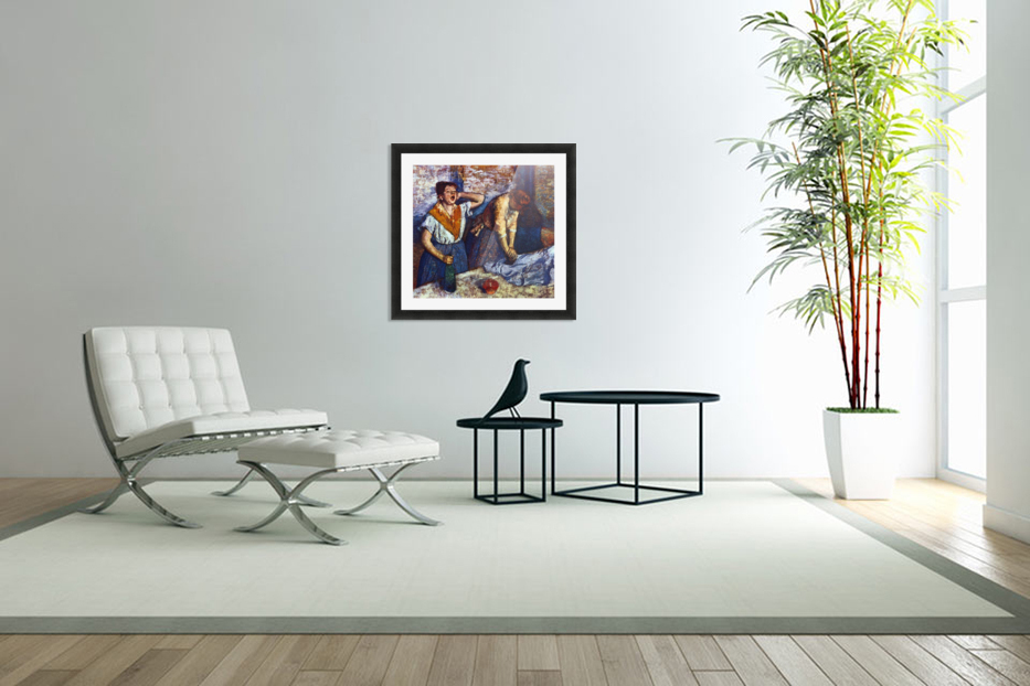 Two cleaning women by Degas in Custom Picture Frame