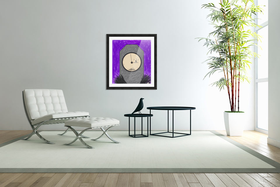 The Constant Bombardment Of Passing Time in Custom Picture Frame