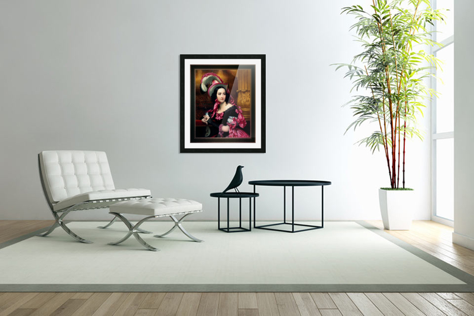 The Venetian At The Mask Ball by Joseph-Desire Court Classical Fine Art Xzendor7 Old Masters Reproductions in Custom Picture Frame