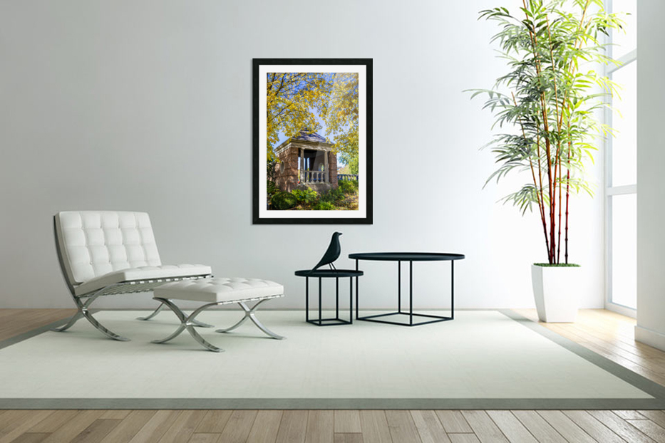 Shelter in the Fall in Custom Picture Frame