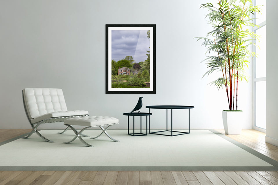 House in the Woods in Custom Picture Frame