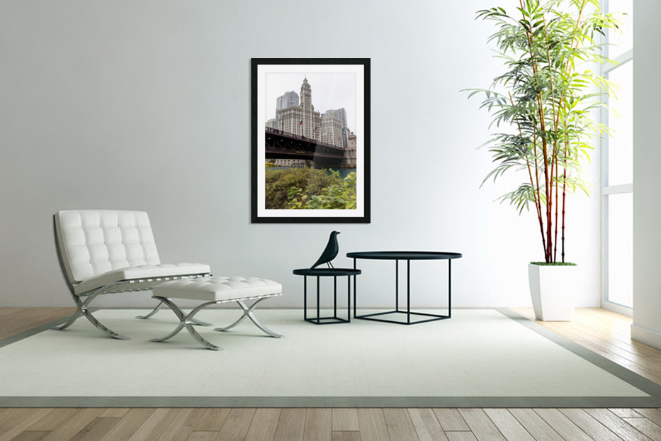 Wrigley Building Chicago in Custom Picture Frame
