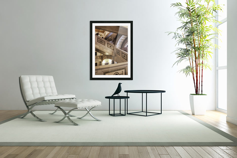 A Painting of Stairs in Custom Picture Frame