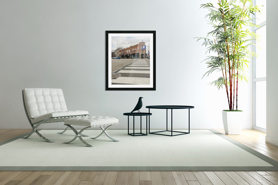 Strolling Down the Street in Custom Picture Frame
