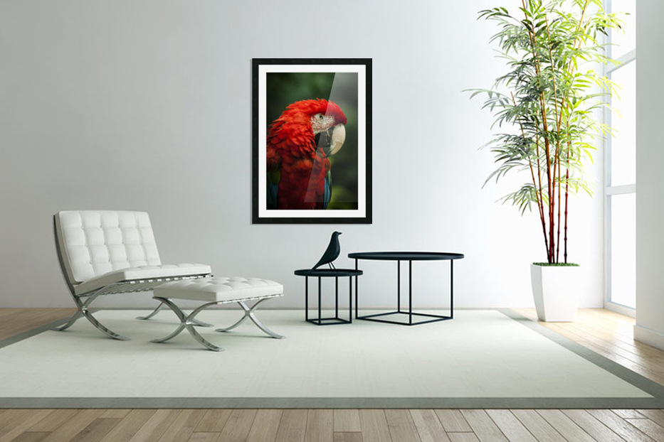 Parrot Portrait in Custom Picture Frame