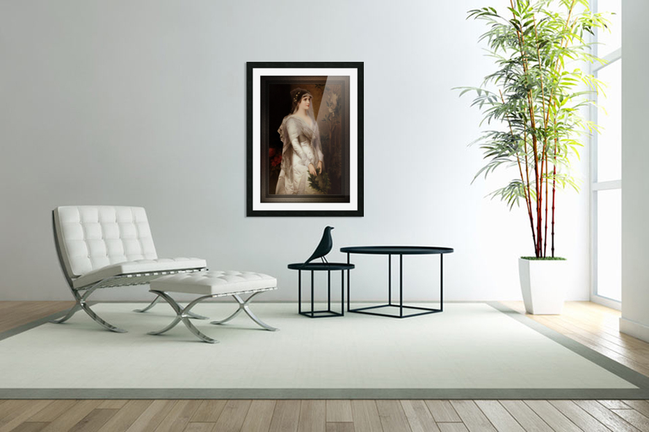 Laura by Conrad Kiesel Classical Art Xzendor7 Old Masters Reproduction in Custom Picture Frame
