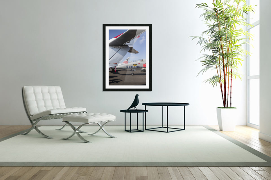 A Line of Planes in Custom Picture Frame