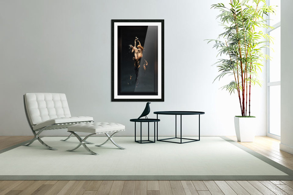 Twin Stars by Luis Ricardo Falero Classical Fine Art Xzendor7 Old Masters Reproductions in Custom Picture Frame