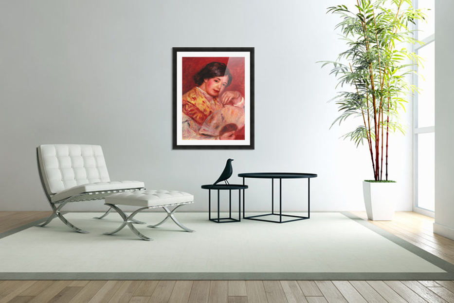 Young girl with fan by Renoir in Custom Picture Frame
