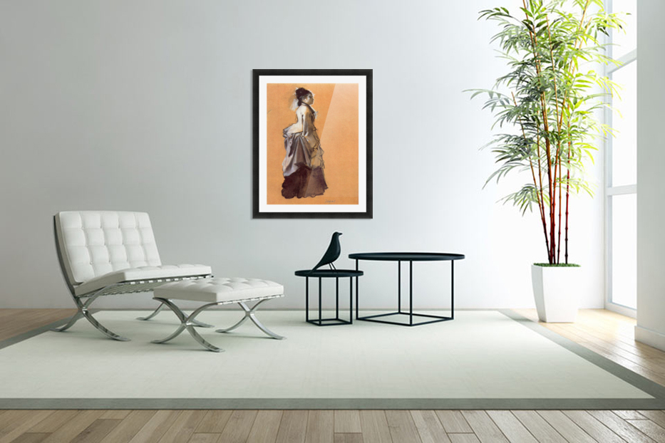 Young lady in the road costume by Degas in Custom Picture Frame