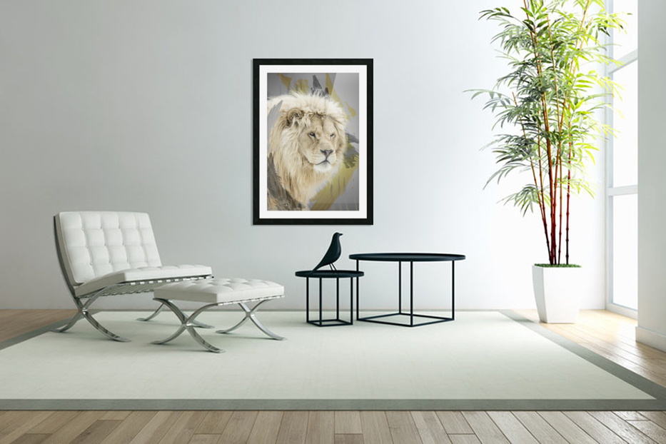 Lion in Custom Picture Frame