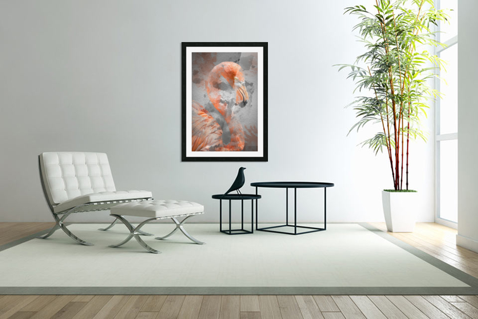 Flamant  in Custom Picture Frame