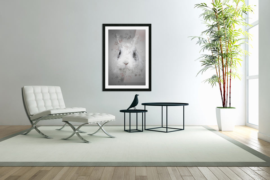 Lapin in Custom Picture Frame