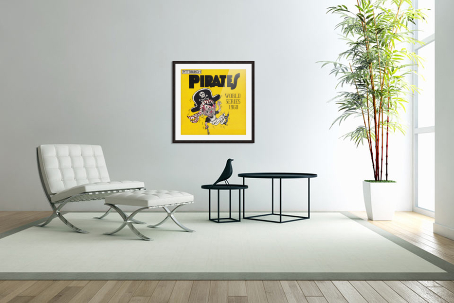 1960 Pittsburgh Pirates World Series Art in Custom Picture Frame