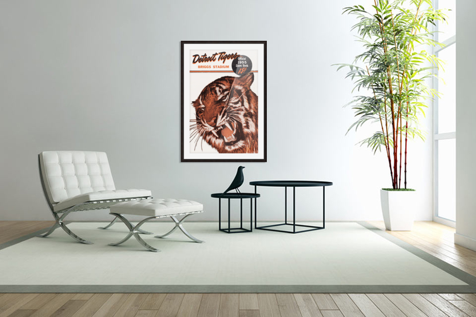 1955 Detroit Tigers Score Book Canvas in Custom Picture Frame