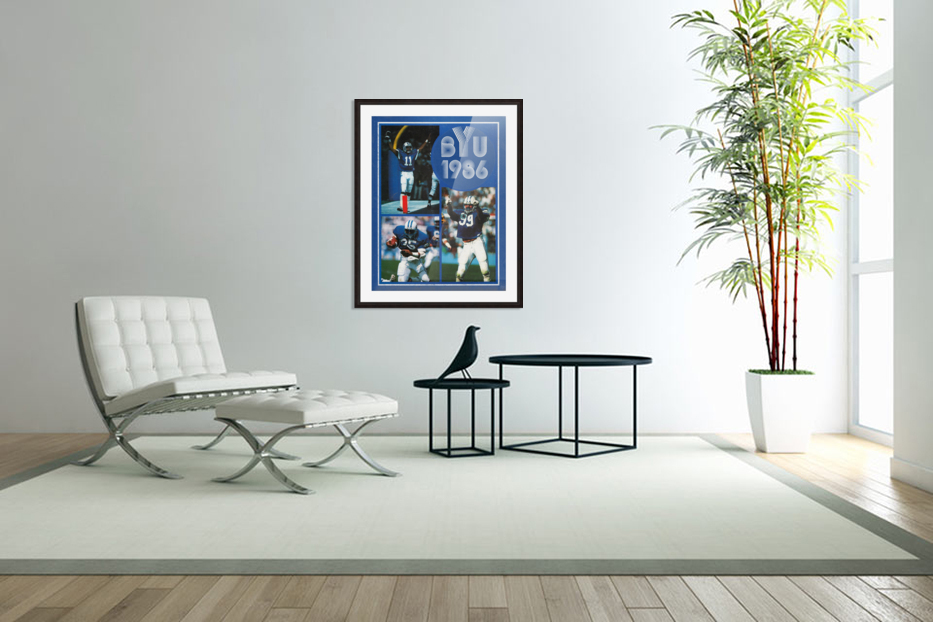1986 BYU Cougars Football Art in Custom Picture Frame