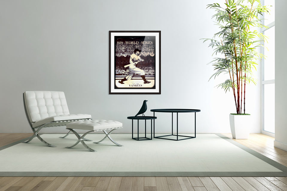 1939 Vintage World Series Program Cover Art Remix by Row 1 in Custom Picture Frame