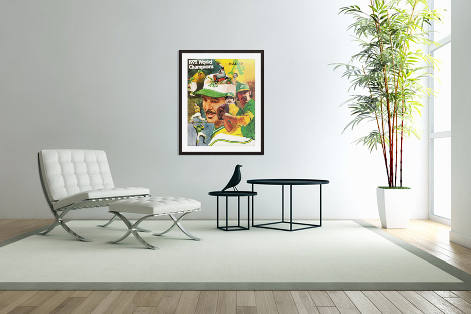 1972 Oakland Athletics World Champions Poster in Custom Picture Frame