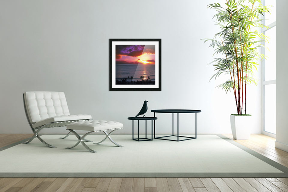 Serenity - Perfect Bliss - Sunset in Custom Picture Frame
