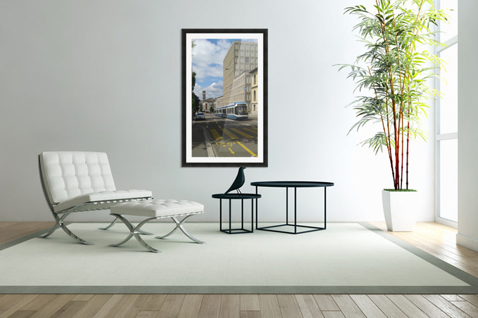 Sunny Day in Zurich in Custom Picture Frame