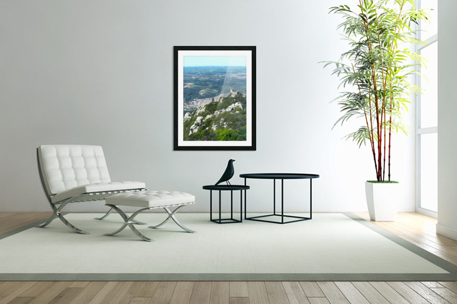 Castelo dos Mouros - Castle of the Moors - Sintra Portugal in Custom Picture Frame