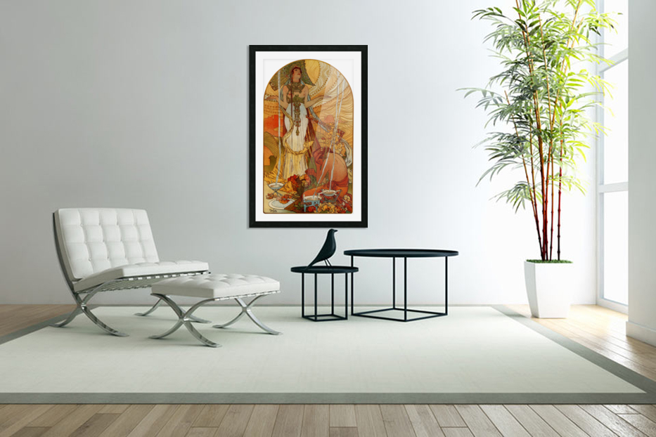 Salammbo by Alphonse Mucha in Custom Picture Frame