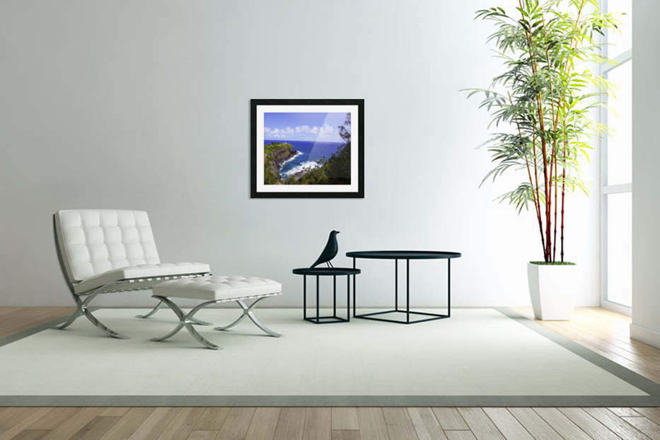 Spring at Kilauea Lighthouse on the Island of Kauai in Custom Picture Frame