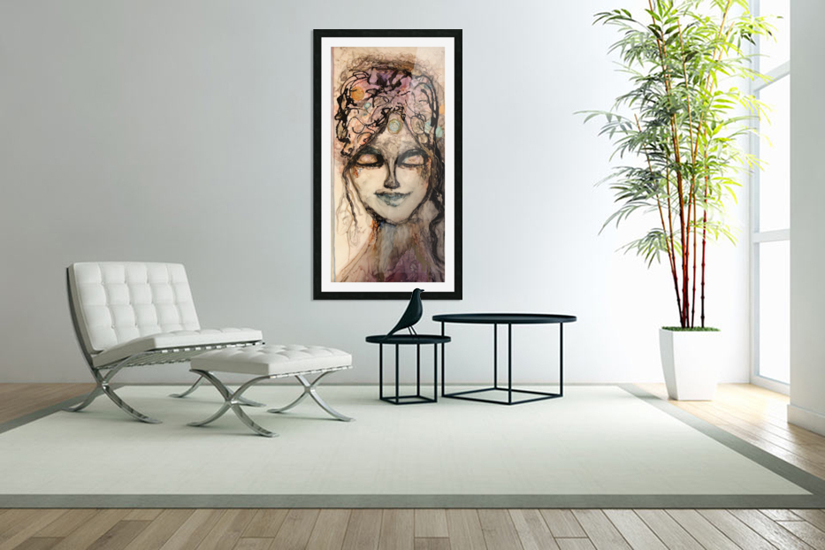 All Knowing in Custom Picture Frame
