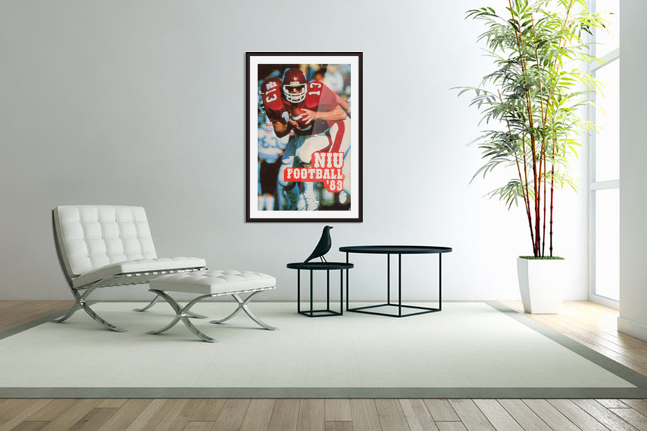 1983 Northern Illinois Huskies Football Poster in Custom Picture Frame