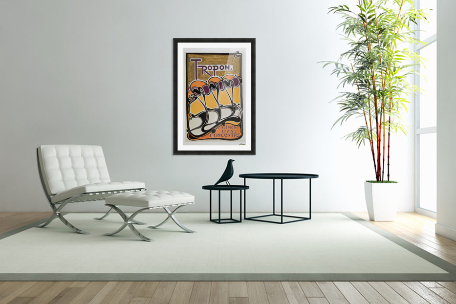 Vintage poster for Tropon food concentrate, 1899 in Custom Picture Frame