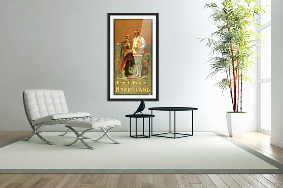 De Wolf Hopper in Happyland delighted poster in 1905 in Custom Picture Frame