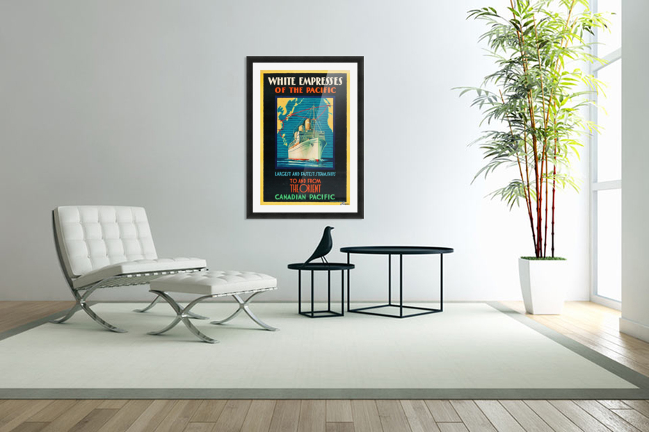Canadian Pacific Travel Poster in Custom Picture Frame