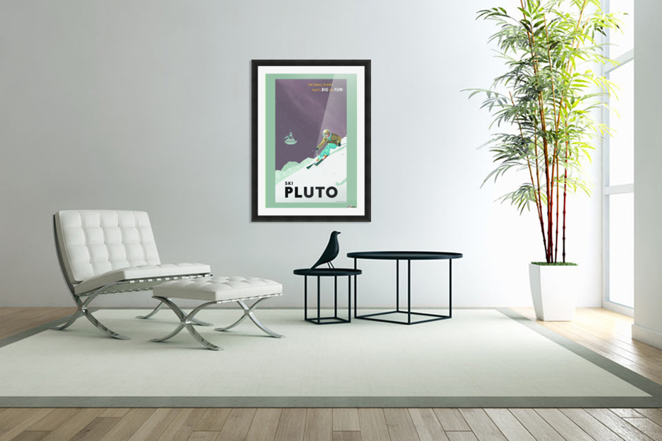 Ski Pluto poster in Custom Picture Frame
