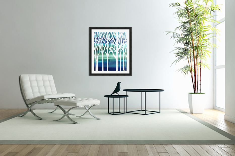 Blue Teal Forest  in Custom Picture Frame