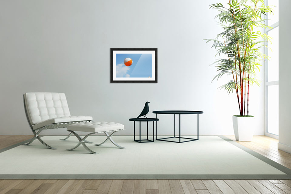 Beach ball on top of cloud in Custom Picture Frame