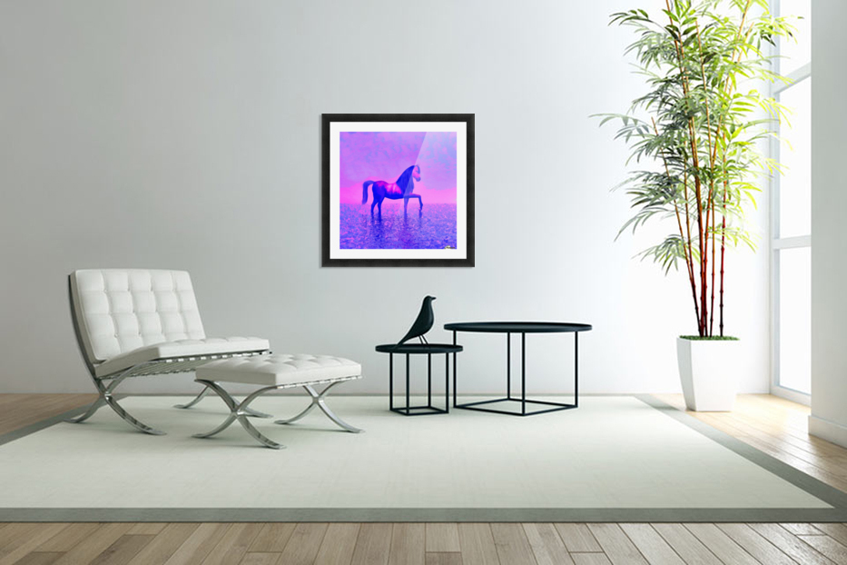 lonely horse in Custom Picture Frame