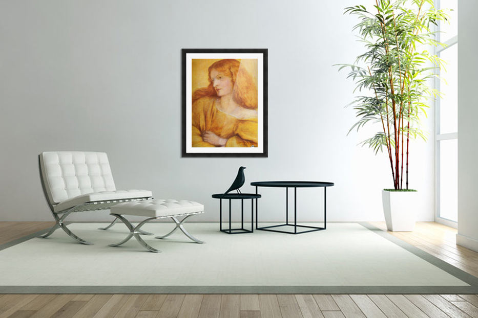 Woman in Yellow in Custom Picture Frame