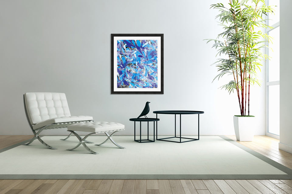 Abstract Floral in Custom Picture Frame